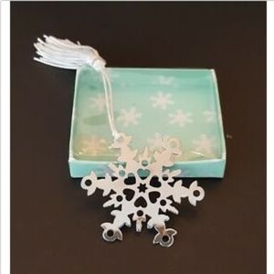 Other - Snowflake Book Mark With Tassel Wedding Frozen